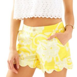 Lilly Pulitzer yellow buttercup shorts sz 2